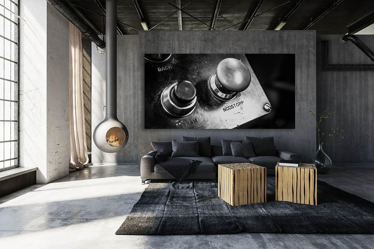 Plåtkonst i vardagsrum