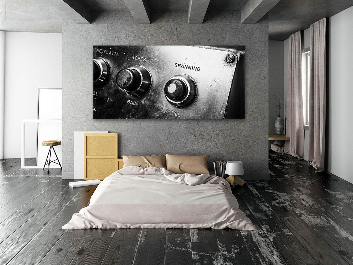 Plåtkonst i sovrum